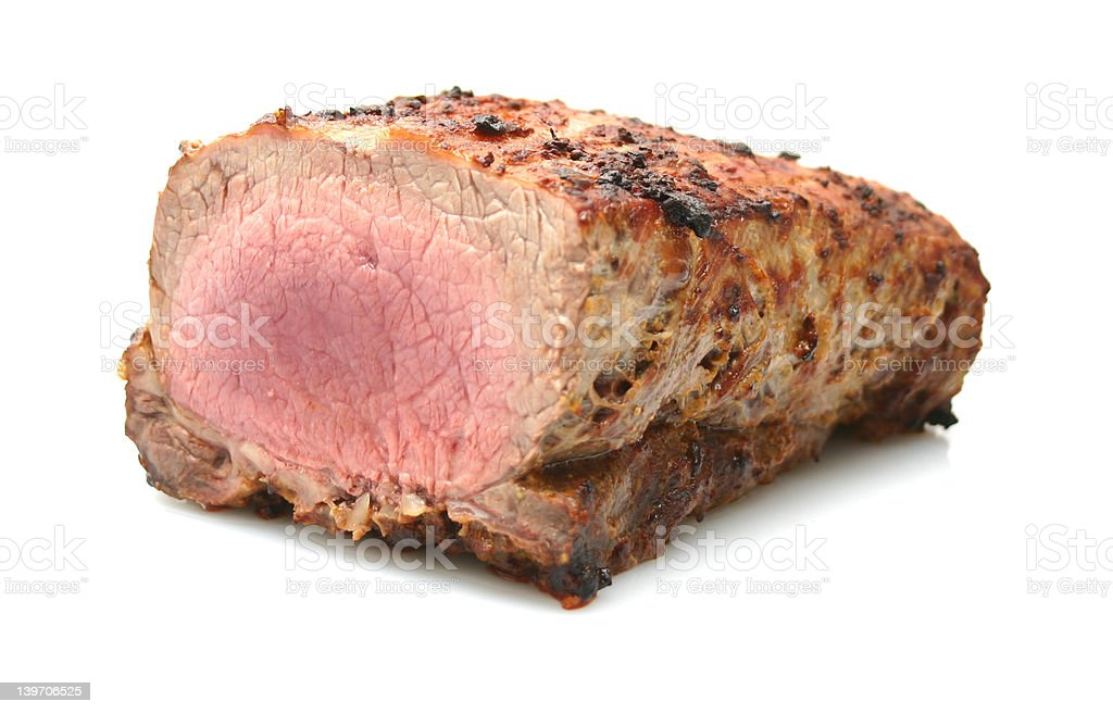 delicious roast beef royalty-free stock photo