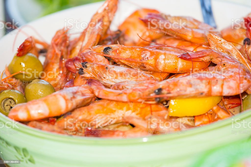Delicious Salad With Shrimp stock photo
