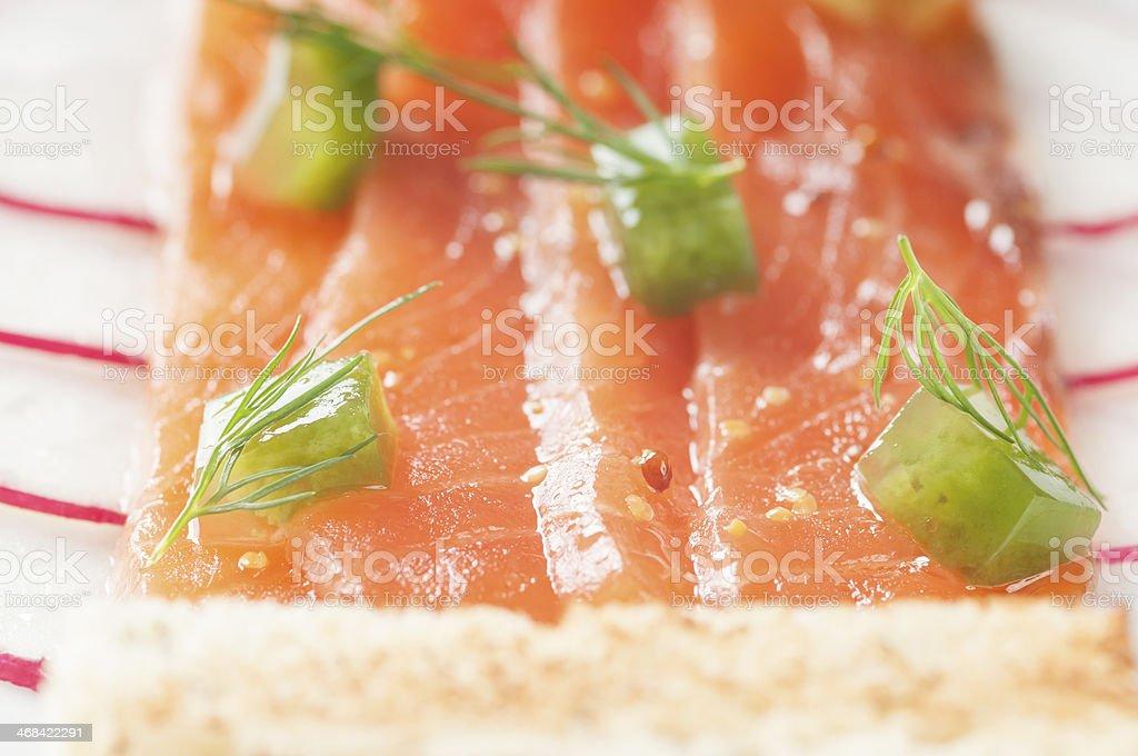 Delicious salmon fillet - detail. royalty-free stock photo