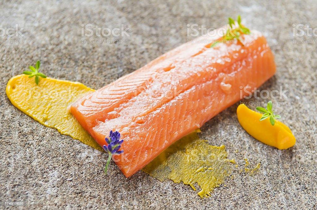 Delicious salmon stock photo
