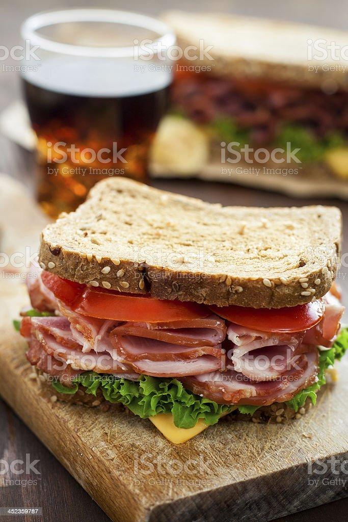 Delicious Sandwich stock photo