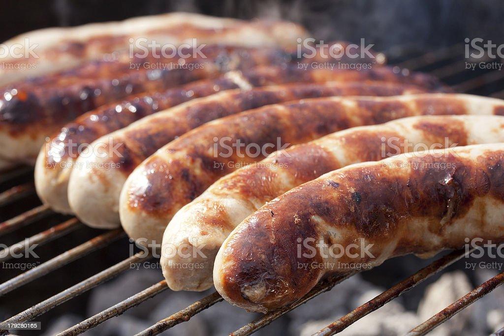 leckere w?rstchen vom grill stock photo