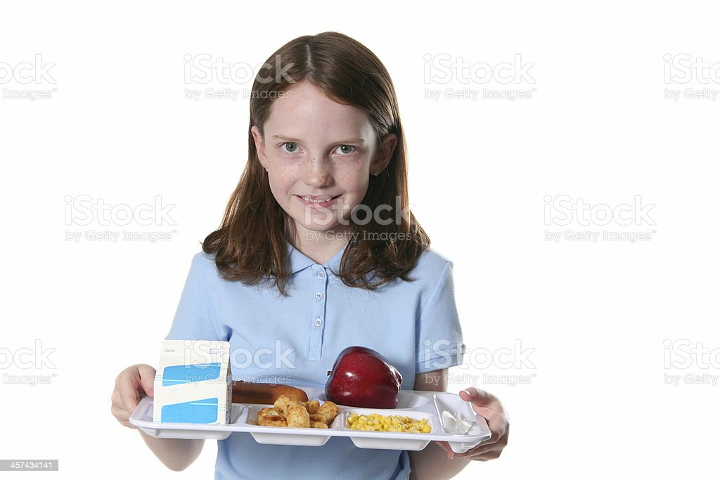 Delicious School Lunch royalty-free stock photo