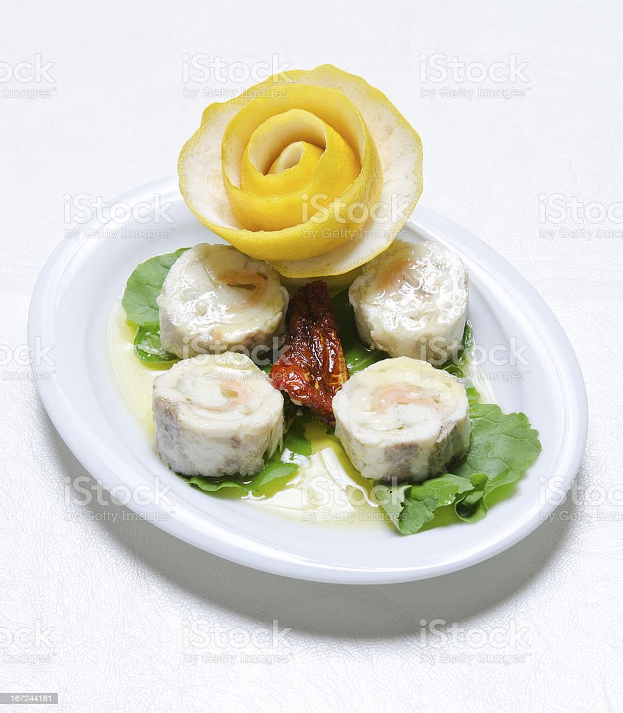 Delicious Seafood plate stock photo
