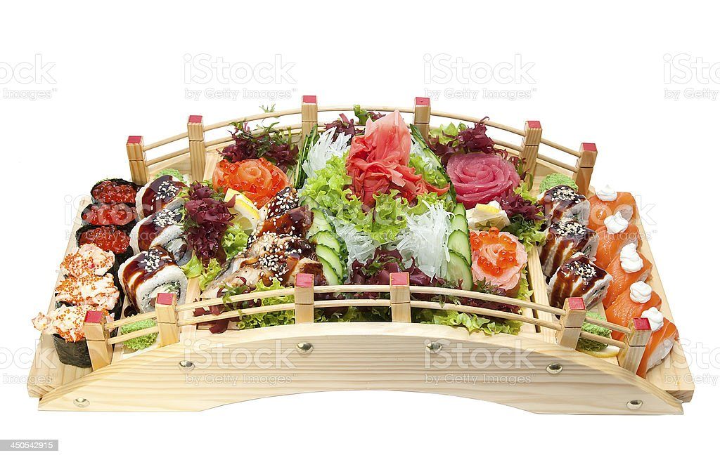 delicious seafood sushi stock photo