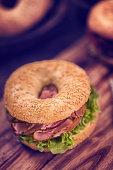 Delicious Sesame Bagel Sandwich