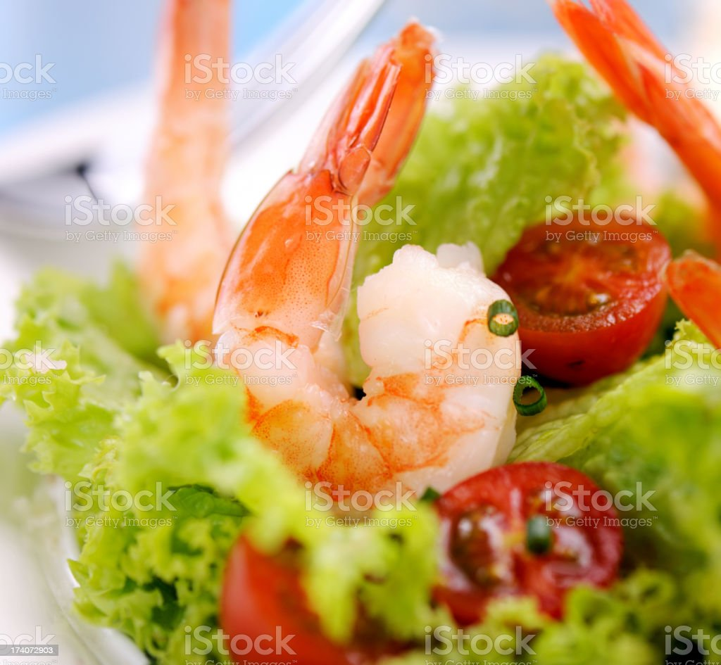 Delicious Shrimps Salad royalty-free stock photo