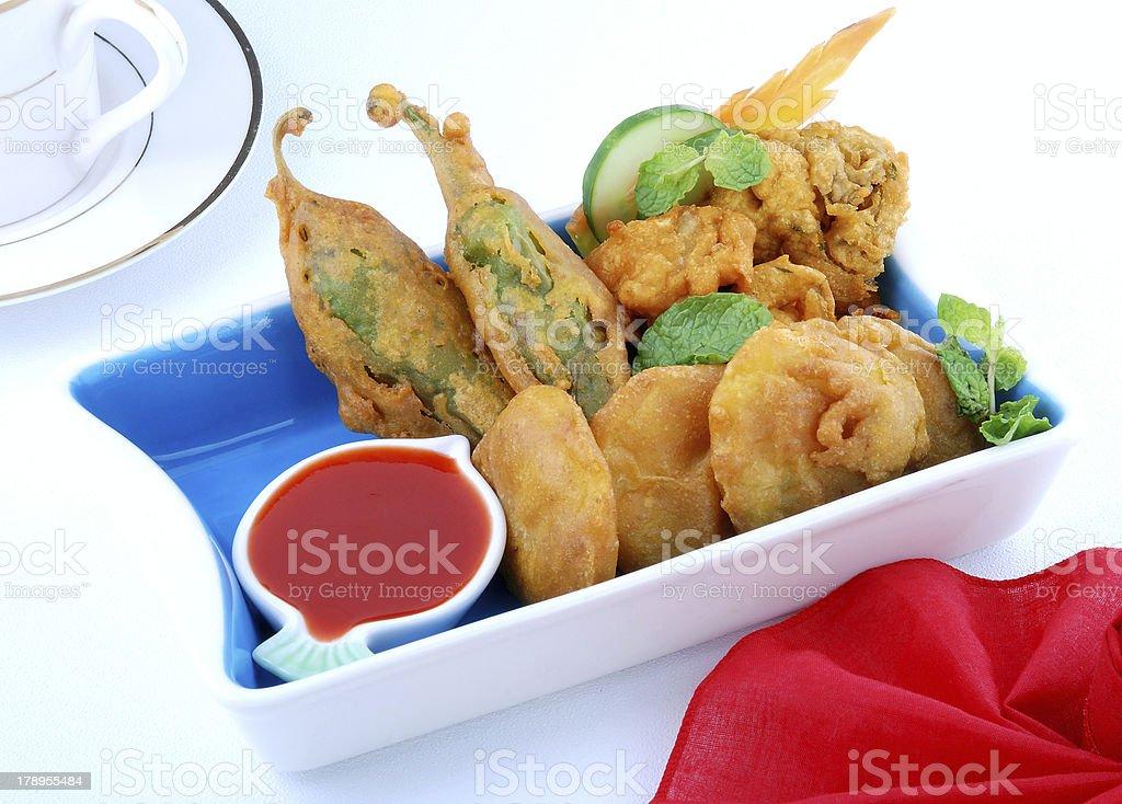 Delicious Snacks Pakorey royalty-free stock photo