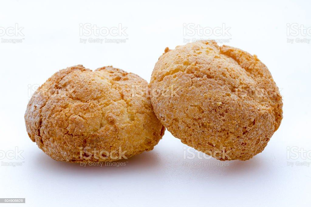 Delicious soft Amaretti from Italy stock photo