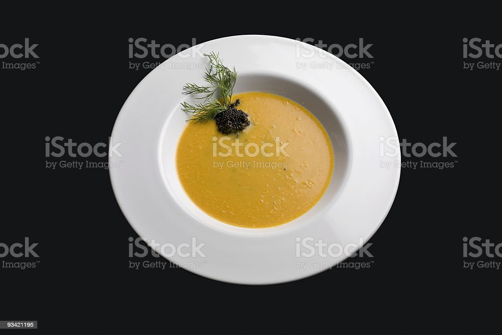delicious soup (incl. clipping path) royalty-free stock photo