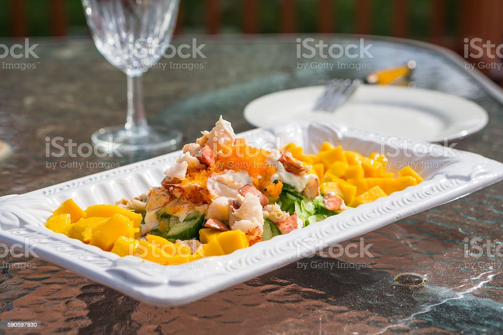 delicious spicy seafood thai food stock photo