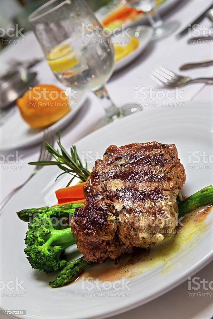 Delicious steak royalty-free stock photo