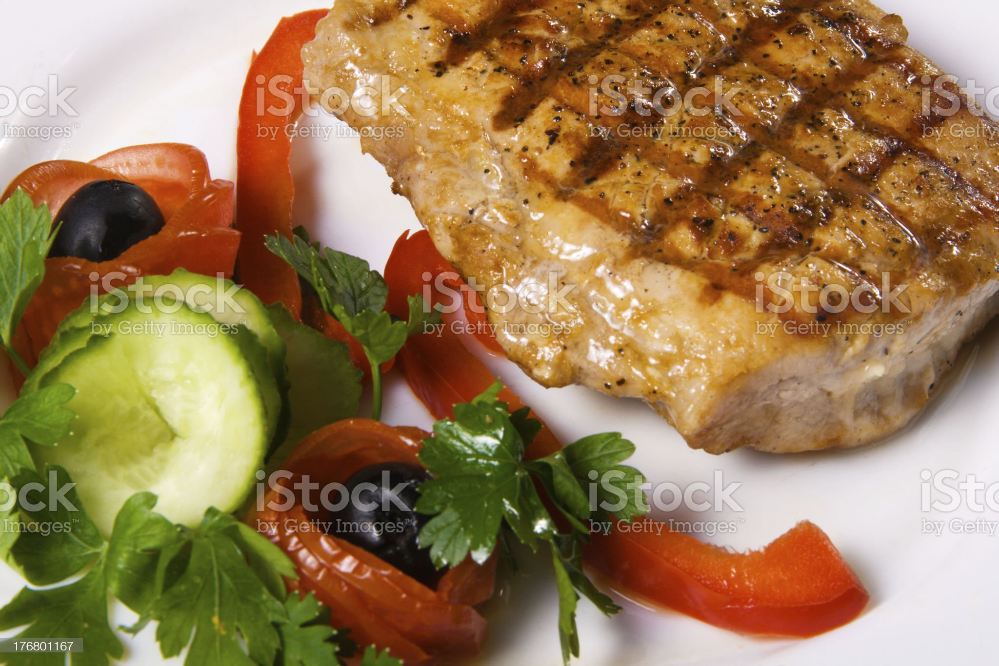Delicious steak with vegetables royalty-free stock photo