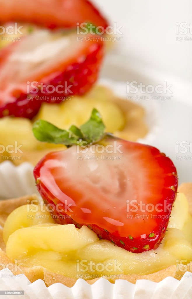 Delicious strawberry dessert royalty-free stock photo