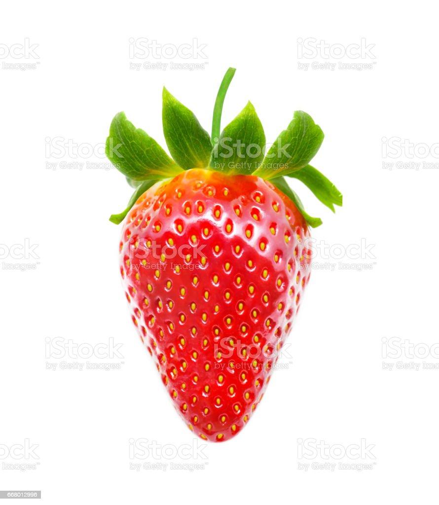 Delicious strawberry isolated on white background stock photo