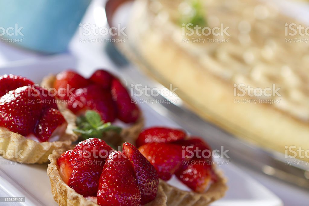 Delicious strawberry  pastries royalty-free stock photo