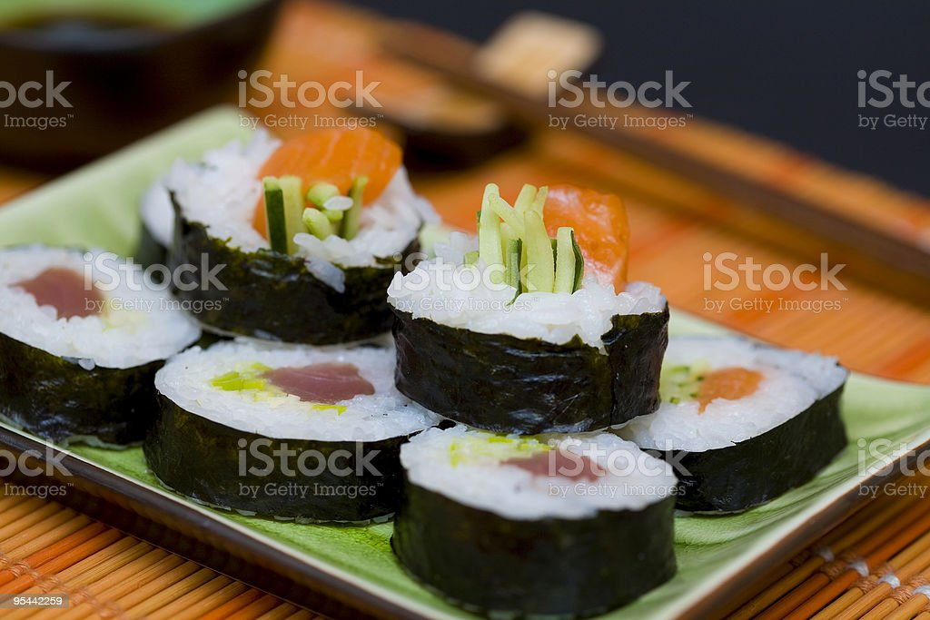 Delicious sushi royalty-free stock photo