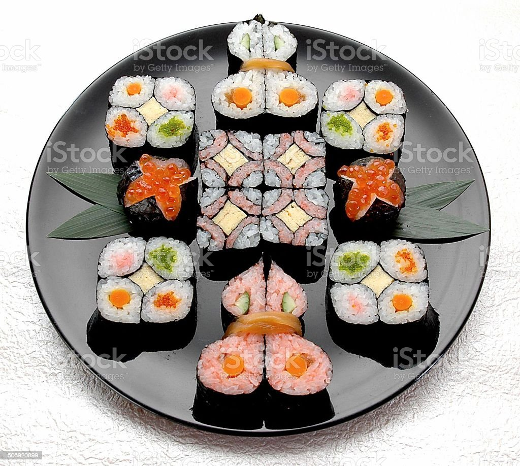 Delicious sushi pictures royalty-free stock photo