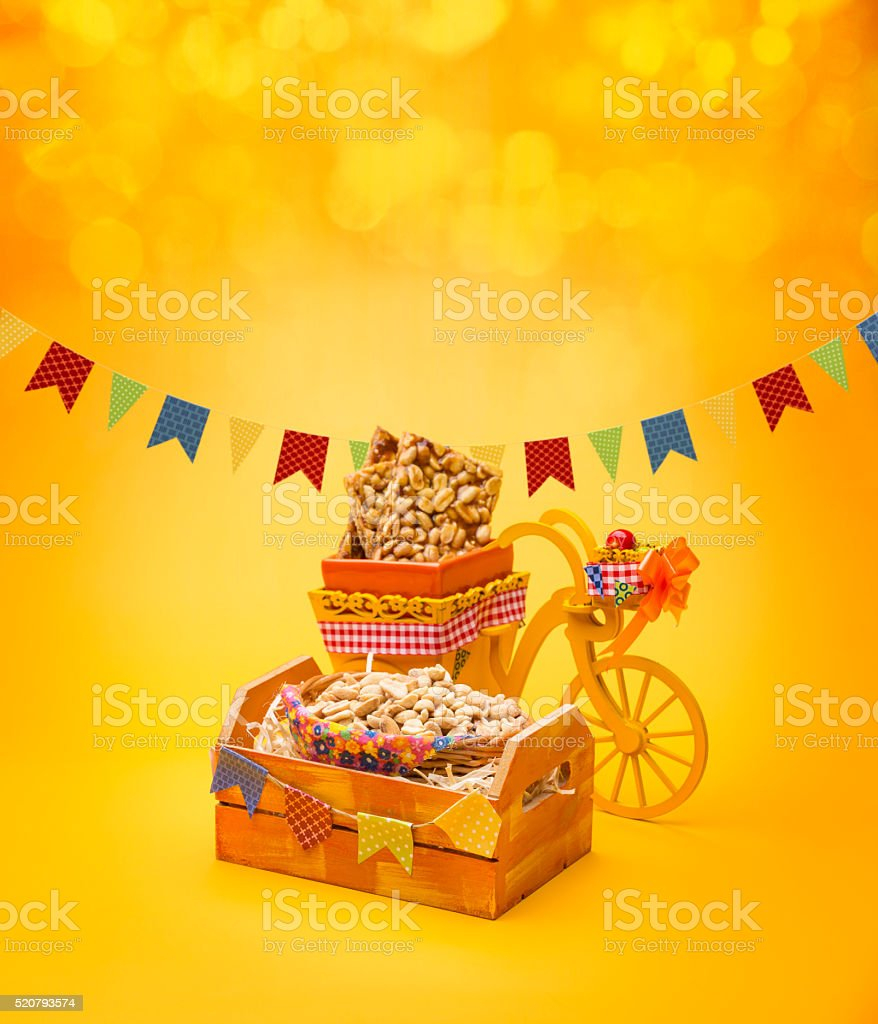 Delicious sweets for the Brazilian Festa Junina Party stock photo