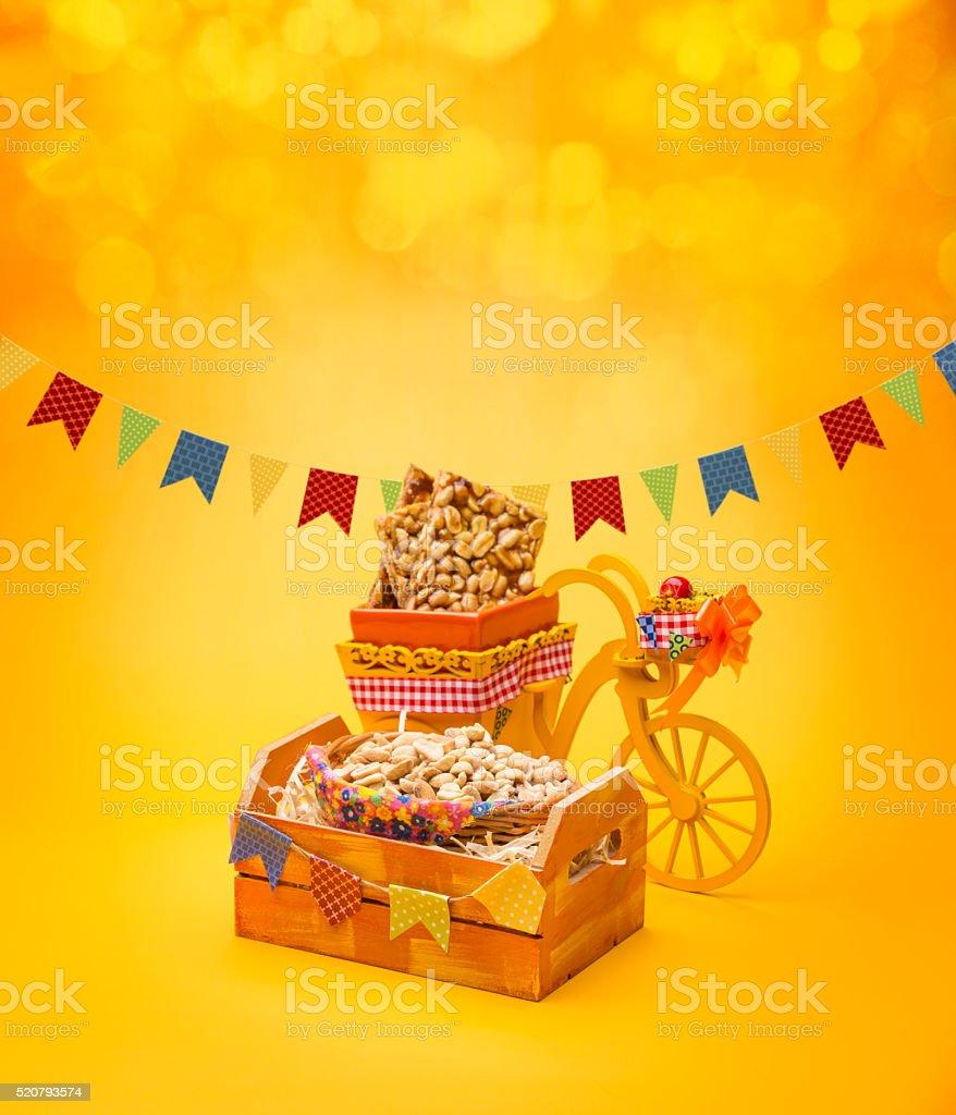 Delicious sweets for the Brazilian Festa Junina Party stock photo