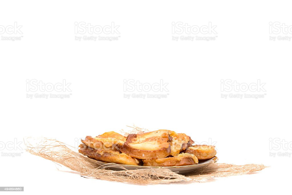 Delicious toast with grilled cheese on a platter. stock photo