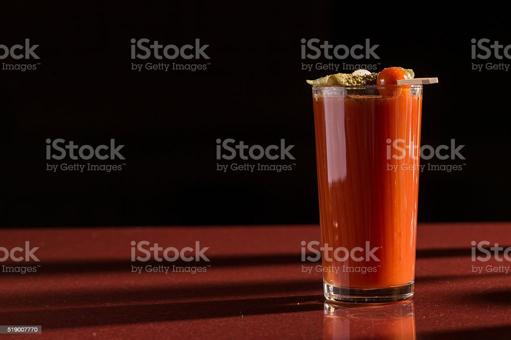 delicious tomato bloody mary cocktail stock photo