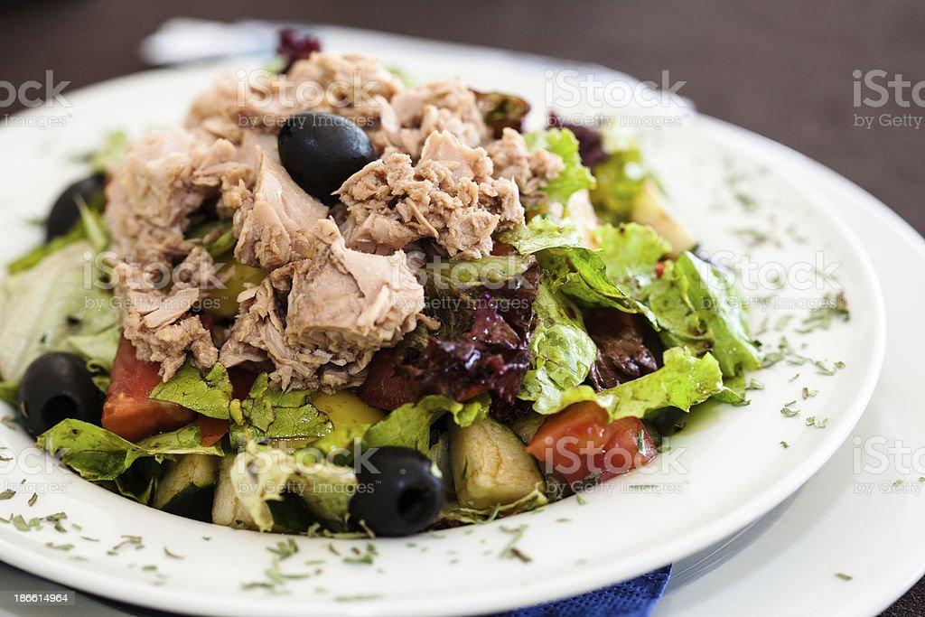 Delicious tuna salad royalty-free stock photo
