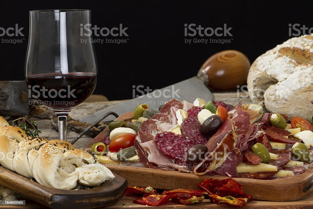 Delicious typical argentinean gourmet antipasto royalty-free stock photo