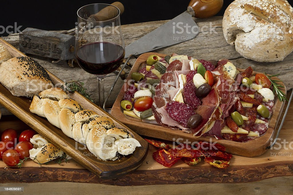Delicious typical argentinean gourmet antipasto stock photo
