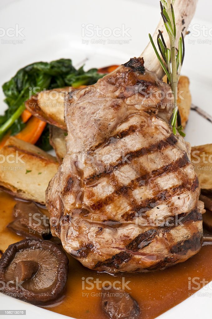 Delicious veal chop royalty-free stock photo