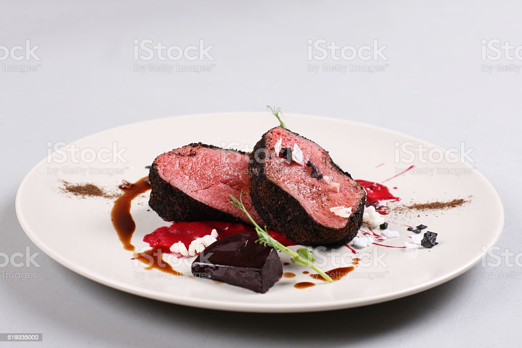 Delicious veal fillet stock photo
