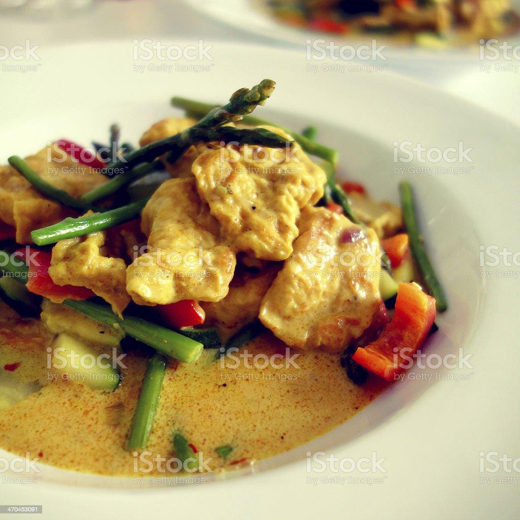 Delicious vegan asian food stock photo