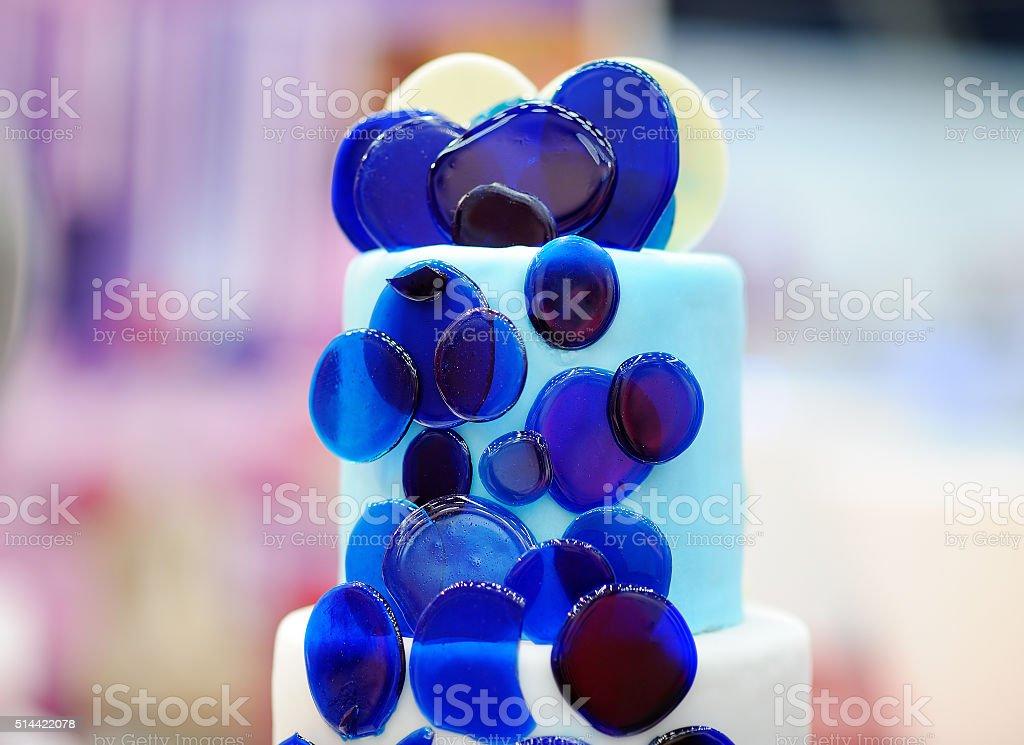 Delicious wedding cake stock photo