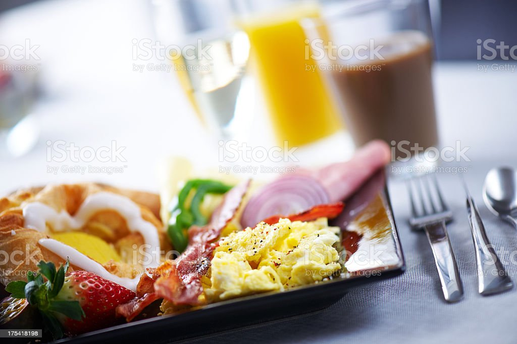 Delicirous breakfast or brunch plate royalty-free stock photo