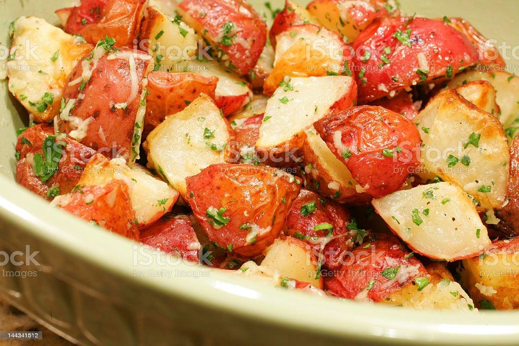 Delicous seasoned potatoes royalty-free stock photo