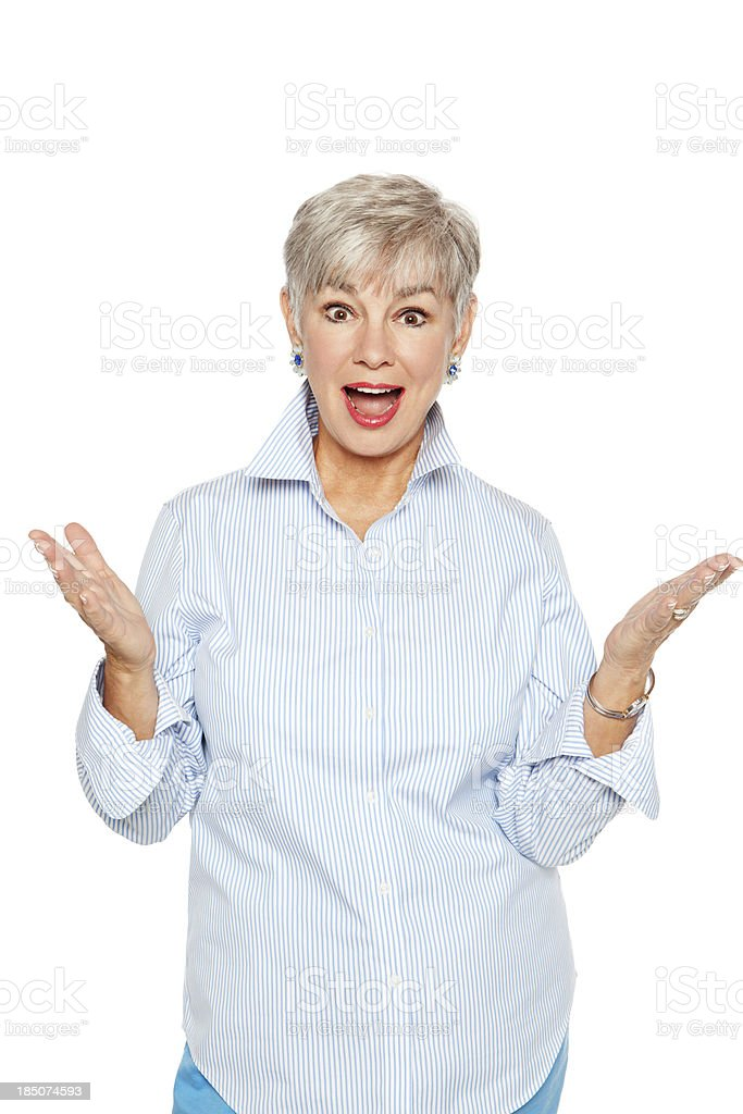 Delighted Senior Woman royalty-free stock photo