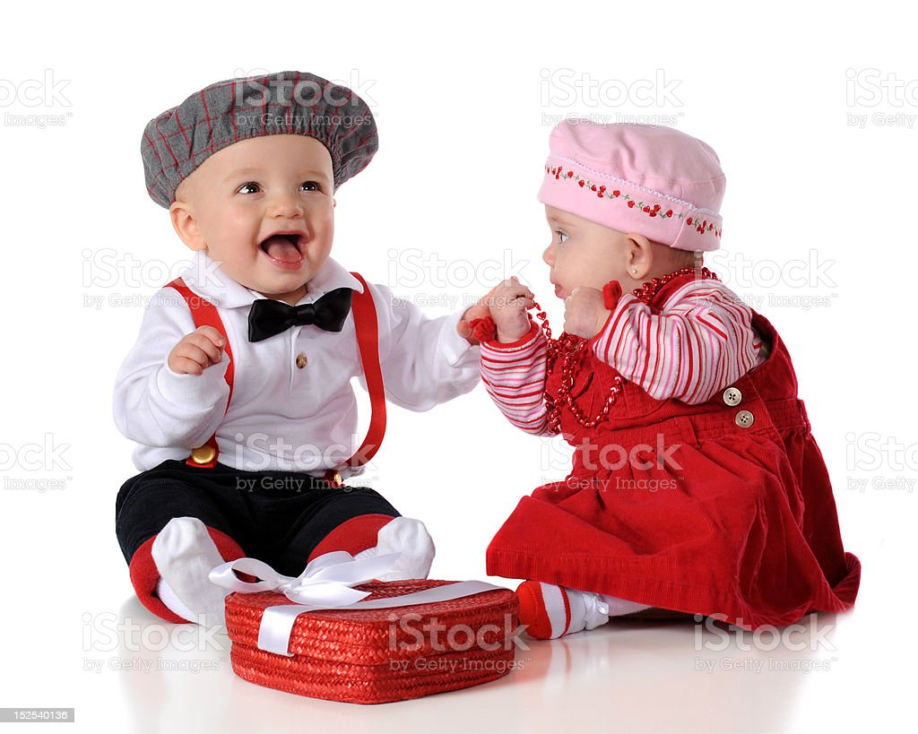Delighted with His First Date royalty-free stock photo