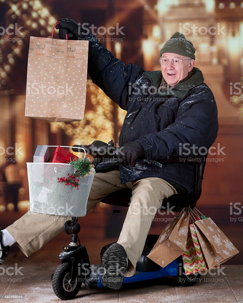 Delighted with His Purchase stock photo