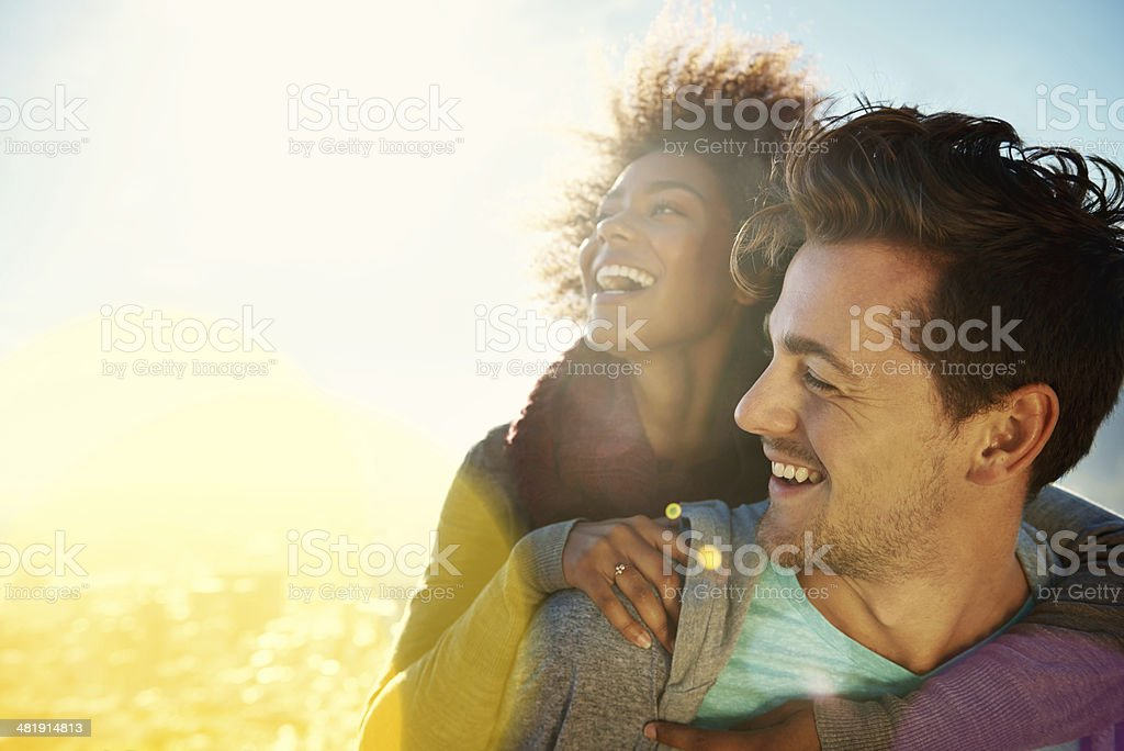 Delightful dalliances stock photo