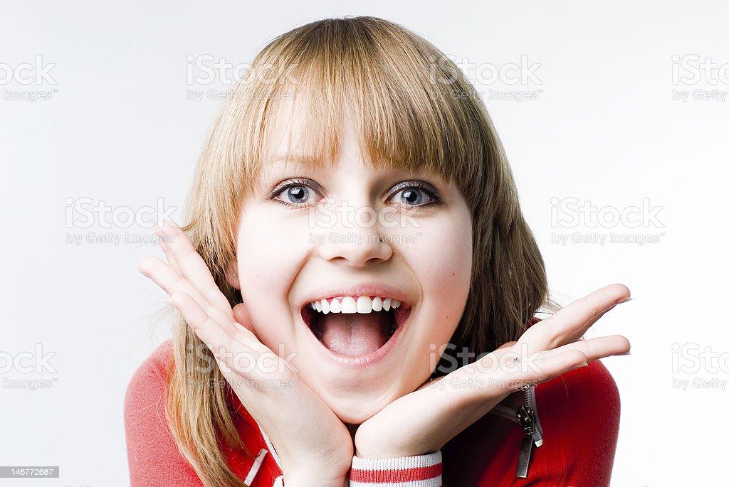 Delightful girl royalty-free stock photo