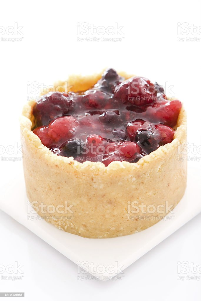 Delightful red fruit and praline dessert royalty-free stock photo