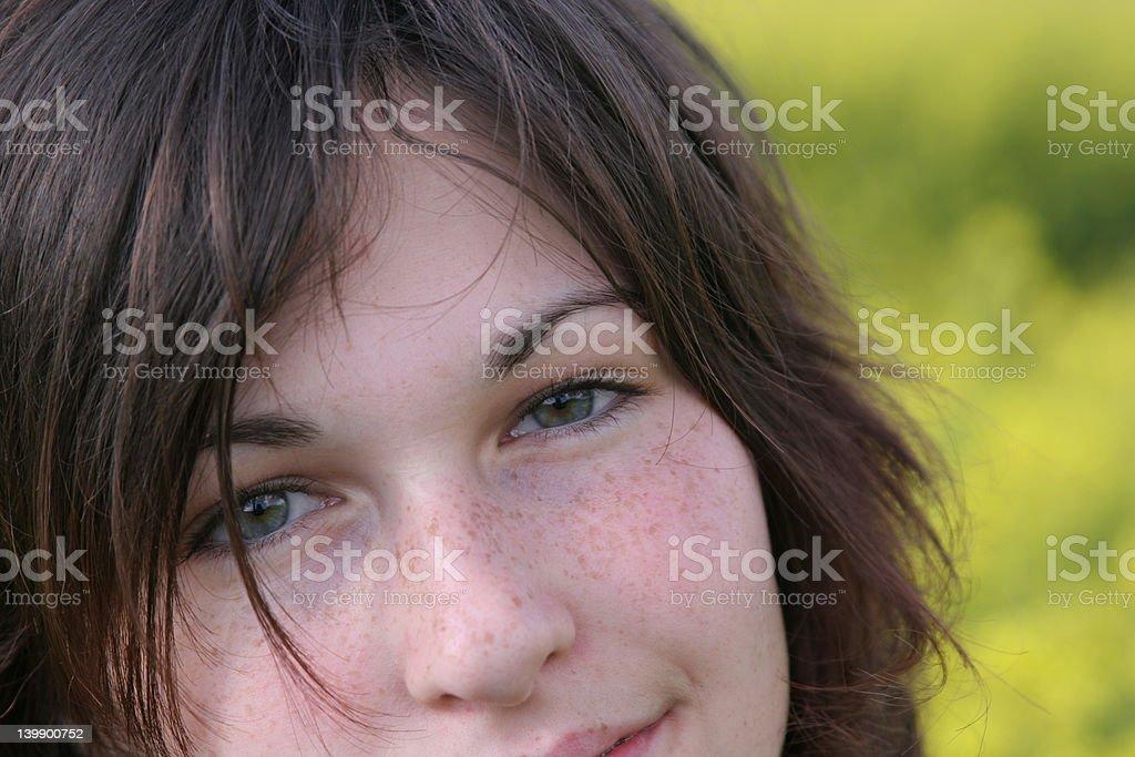 Delightful smile royalty-free stock photo