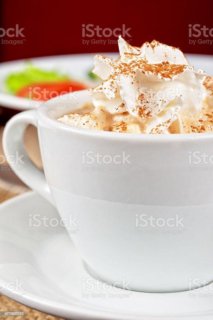 Deliicous coffee closeup royalty-free stock photo
