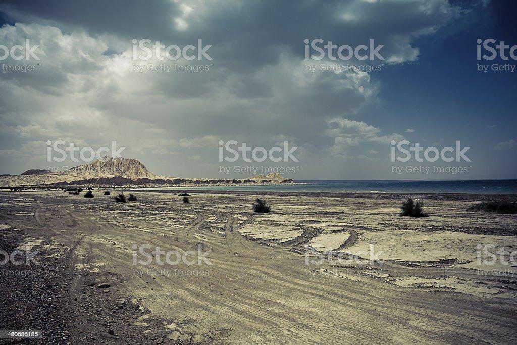 Delingha alien ruins stock photo