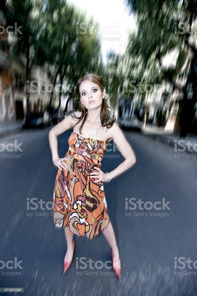 Delirious Streets, Woman Portrait royalty-free stock photo
