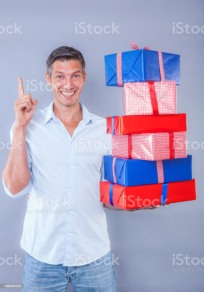 deliver your online bought gifts stock photo