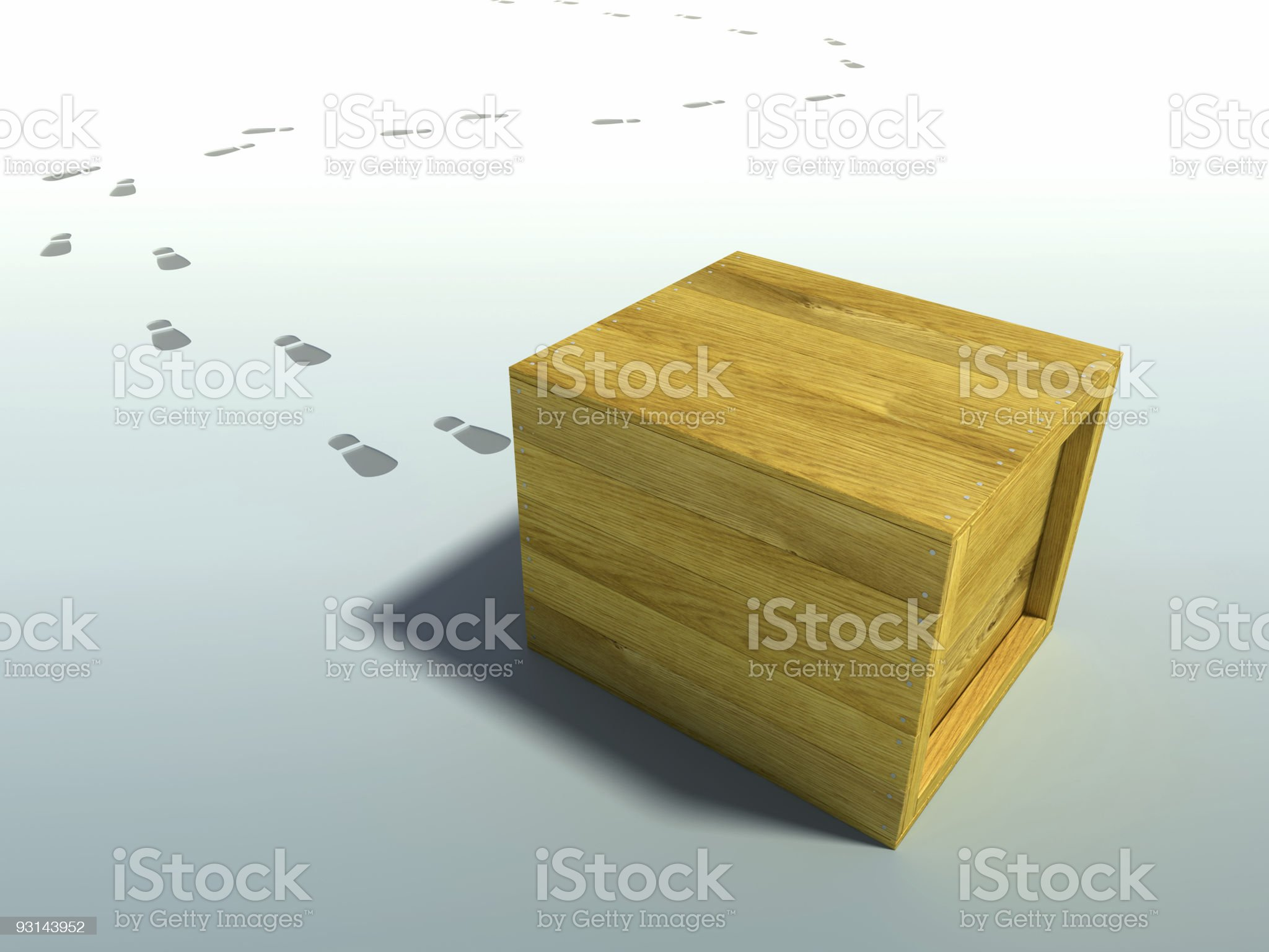 delivered crate royalty-free stock vector art