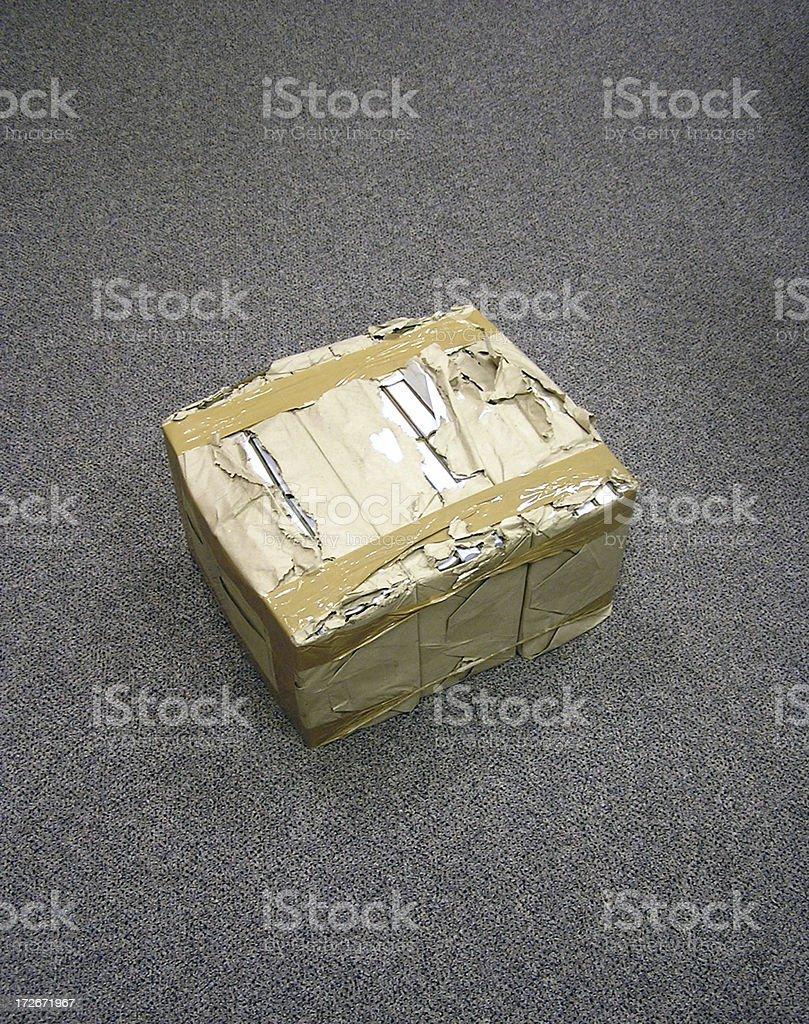 Delivered package stock photo