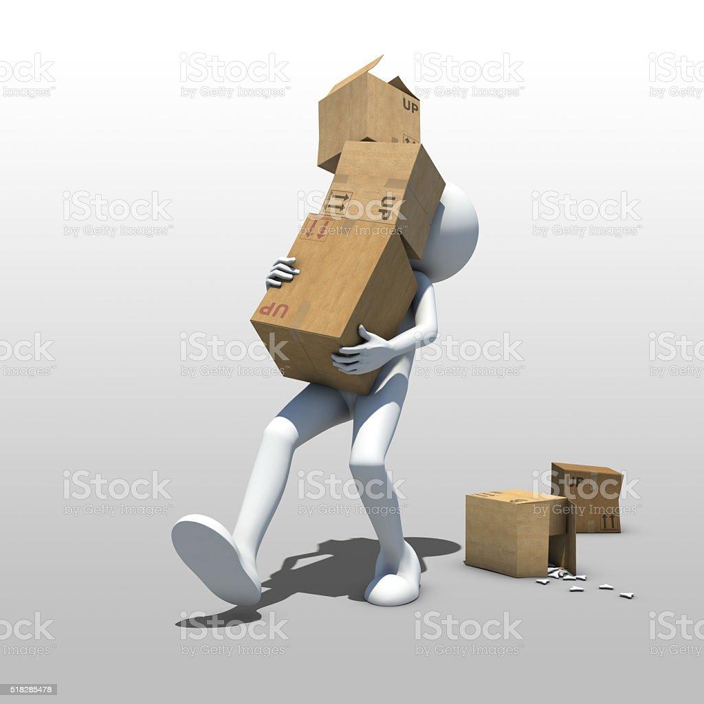 Deliverer stock photo