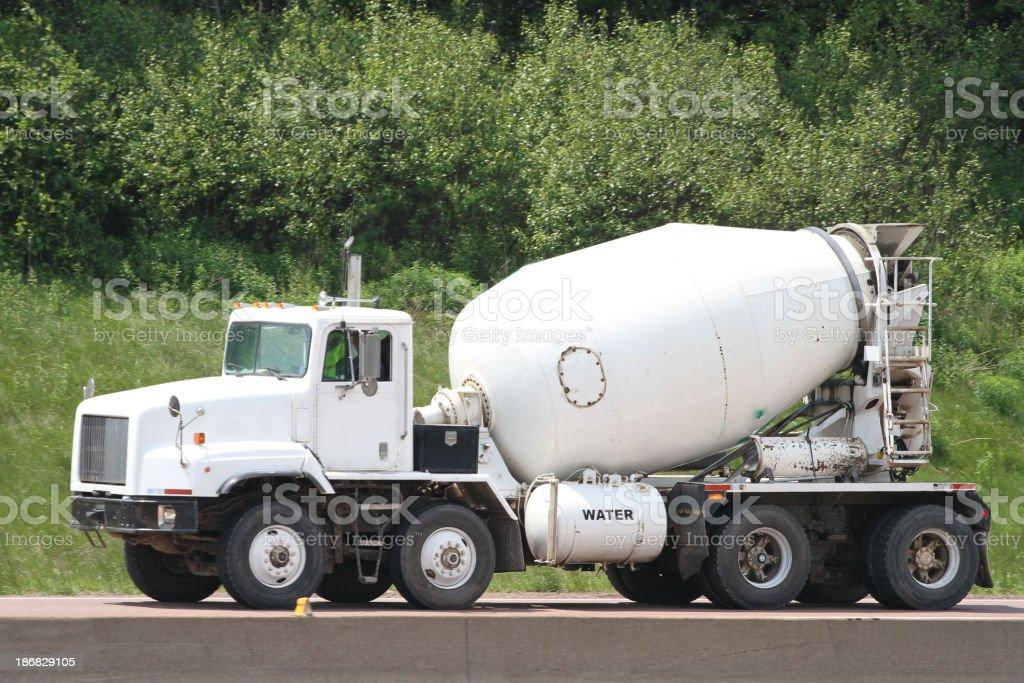 Delivering Concrete stock photo